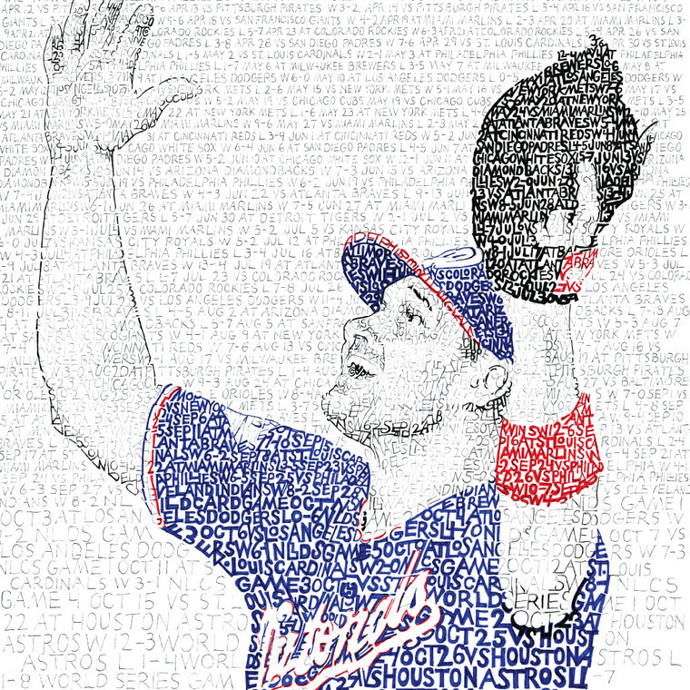 2019 Washington Nationals World Series Word Art by Daniel Duffy