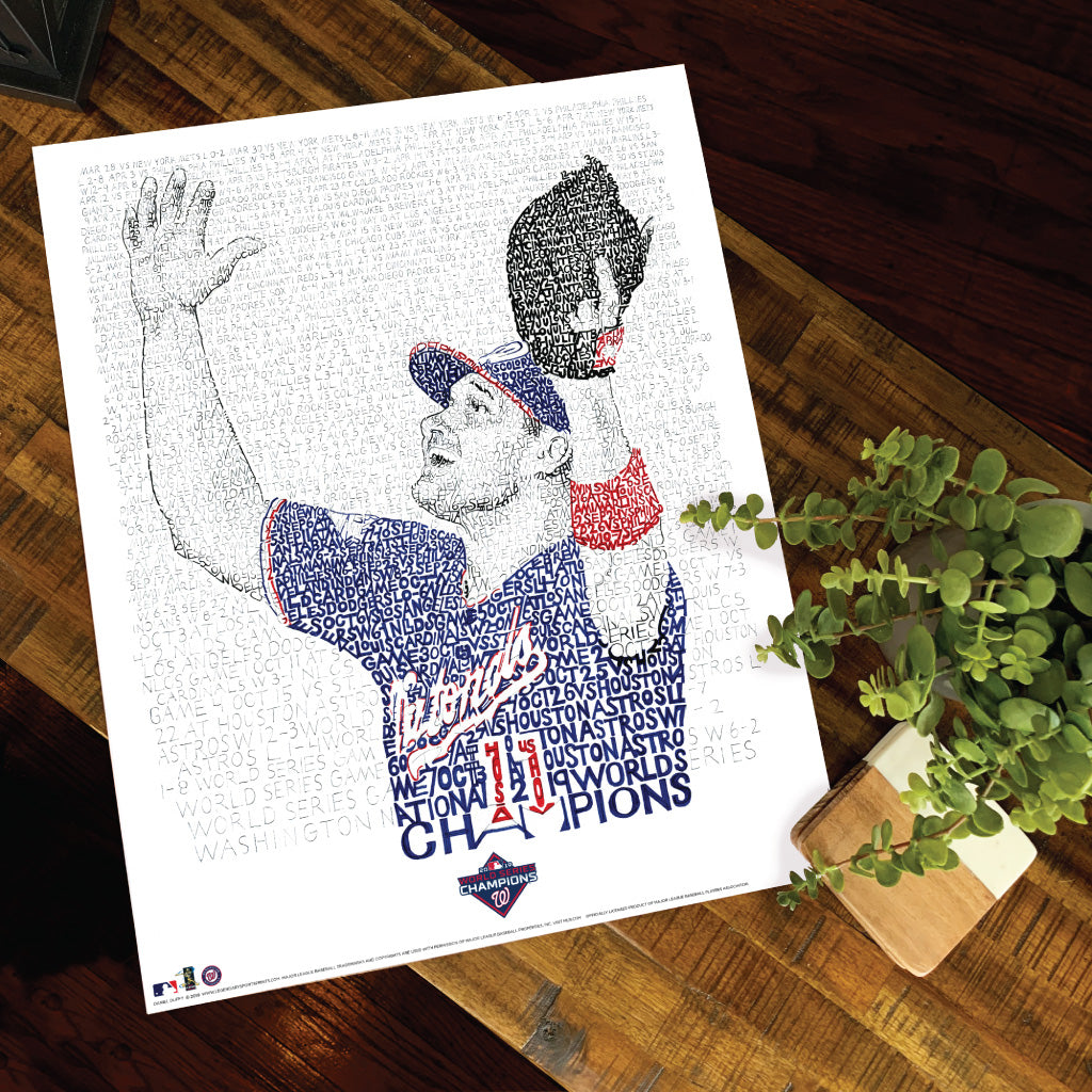 2019 Washington Nationals World Series Poster