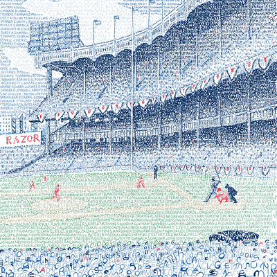 Yankee Stadium Word Art Poster