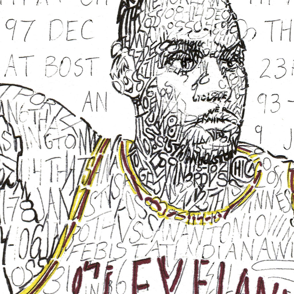 Cleveland Cavaliers LeBron James Wall Décor Poster Art