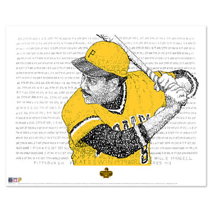 1979 Pittsburgh Pirates Willie Stargell World Series Word Art
