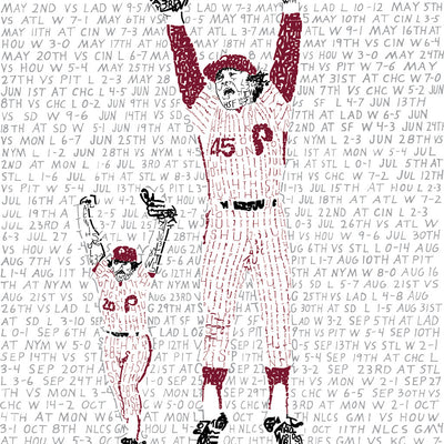 1980 Philadelphia Phillies World Series Word Art