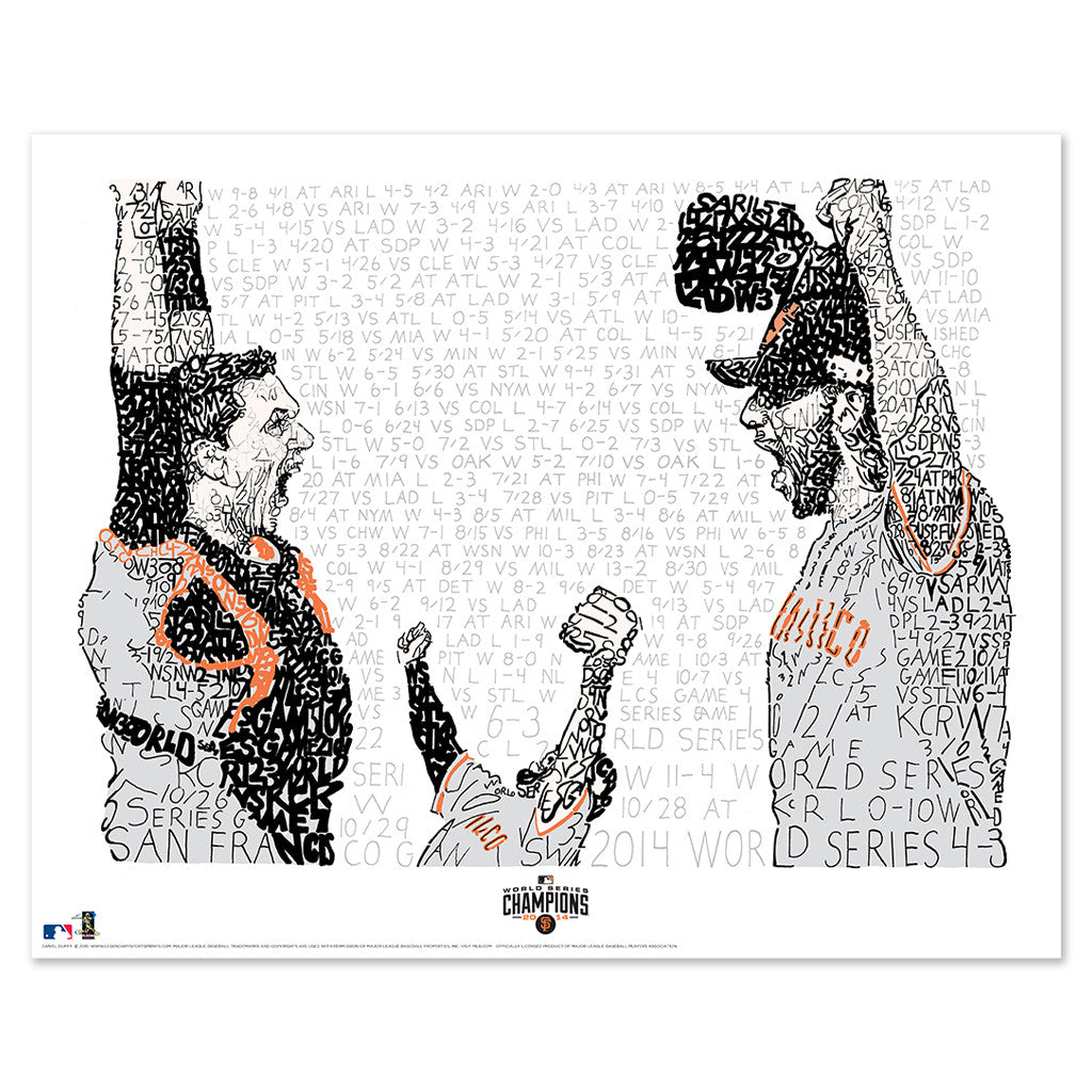 2014 San Francisco Giants World Series Poster