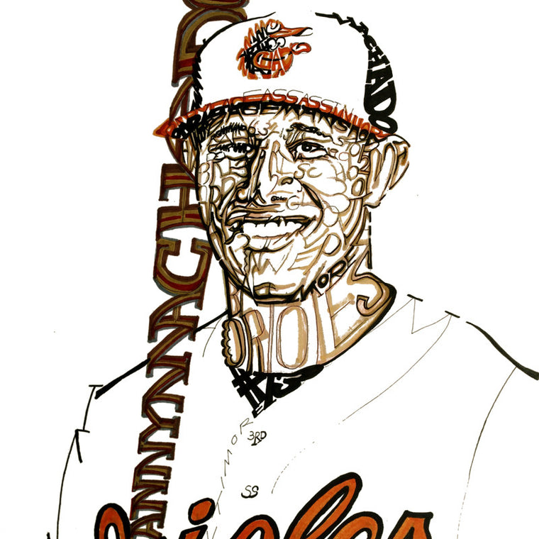 Baltimore Orioles Manny Machado Word Art