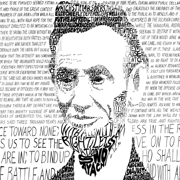 President Abe Lincoln Wall Art Poster