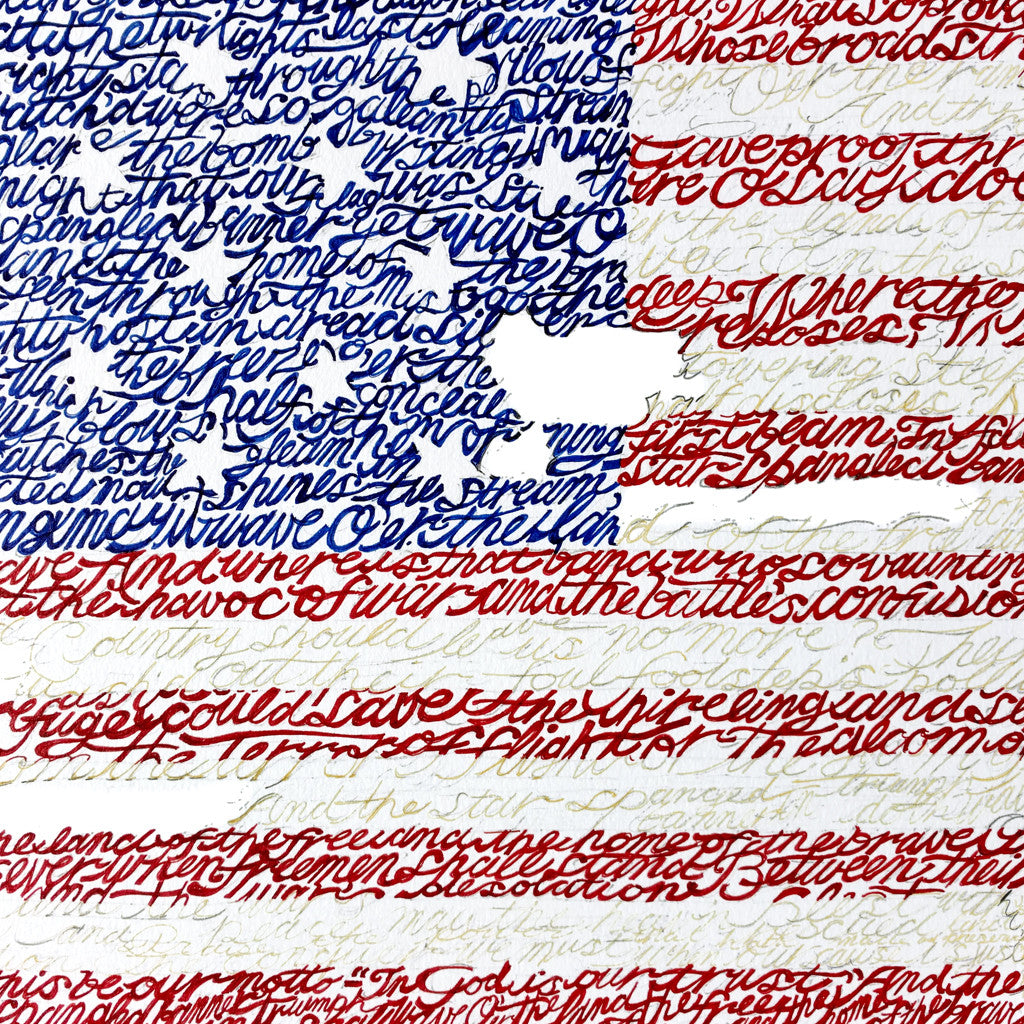 American Flag National Anthem Wall Art Print