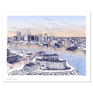Baltimore Inner Harbor Wall Decor Print