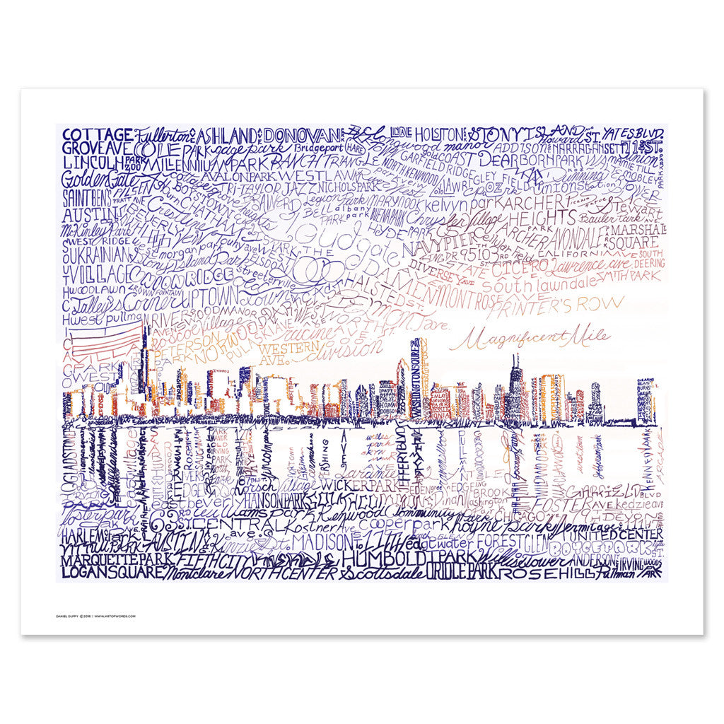 Chicago Skyline Wall Decor