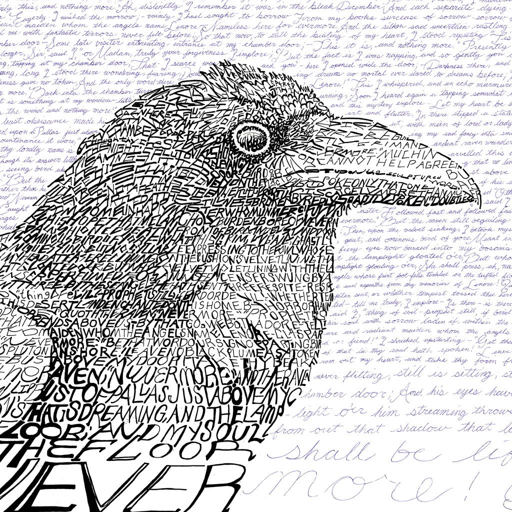 The Raven - Edgar Allan Poe Word Art Print - Art of Words