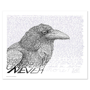 Edgar Allan Poe The Raven Wall Decor Artwork