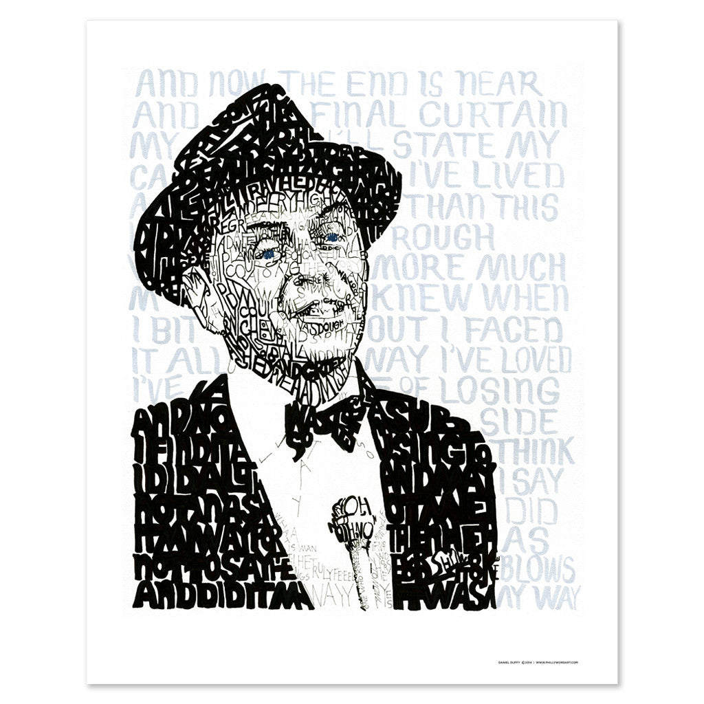 Frank Sinatra My Way Wall Decor Art Print
