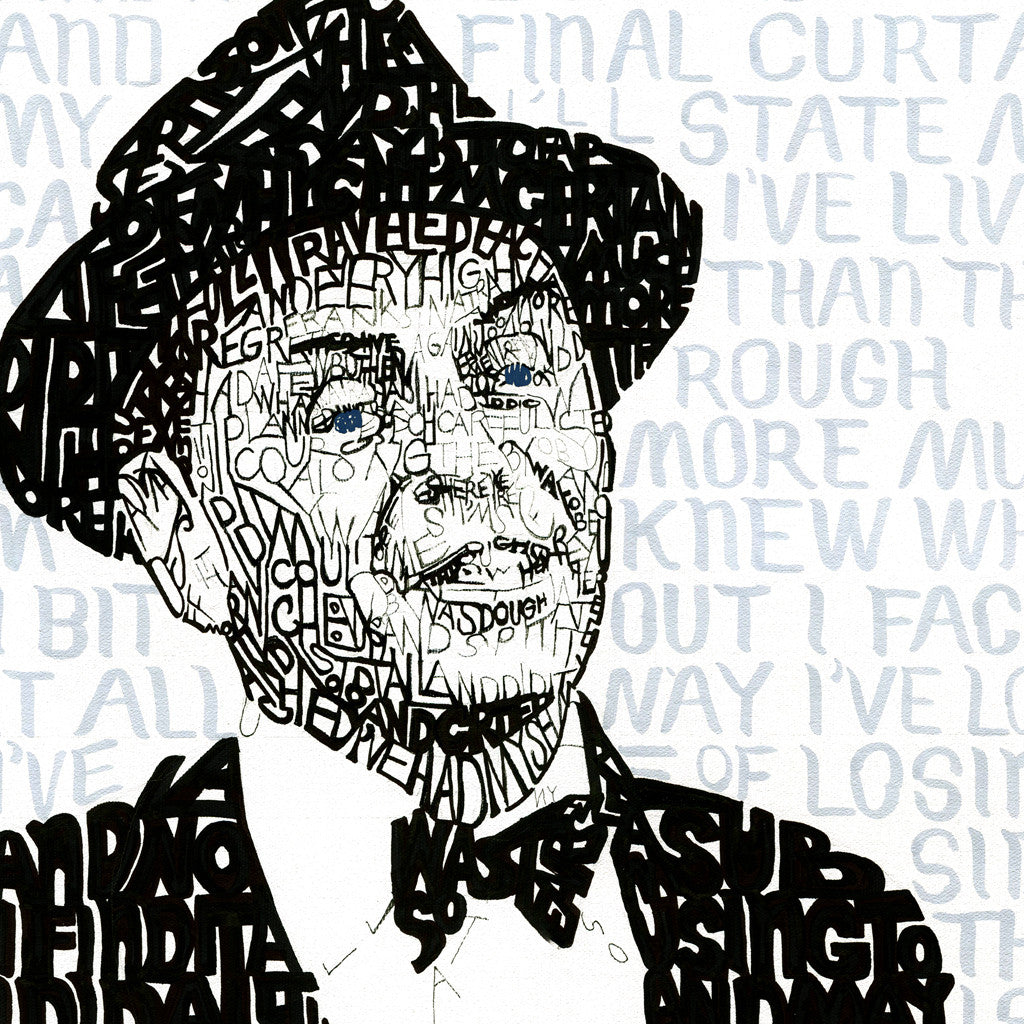 Frank Sinatra My Way Word Art by Dan Duffy
