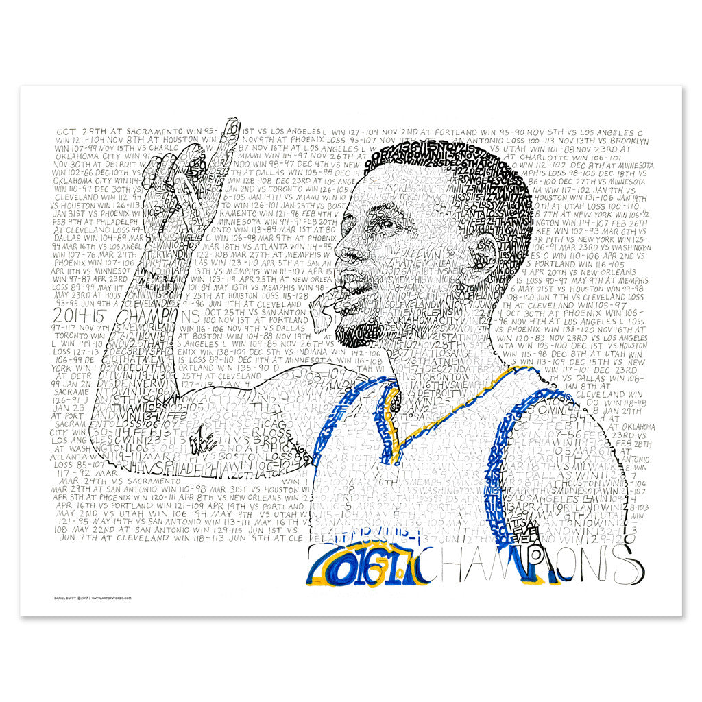 Golden State Warriors – Steph Curry Wall Décor Poster Art