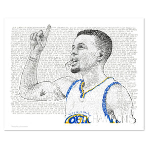 Golden State Warriors Steph Curry Wall Décor Poster Art