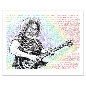 Grateful Dead Jerry Garcia Deadhead Wall Decor