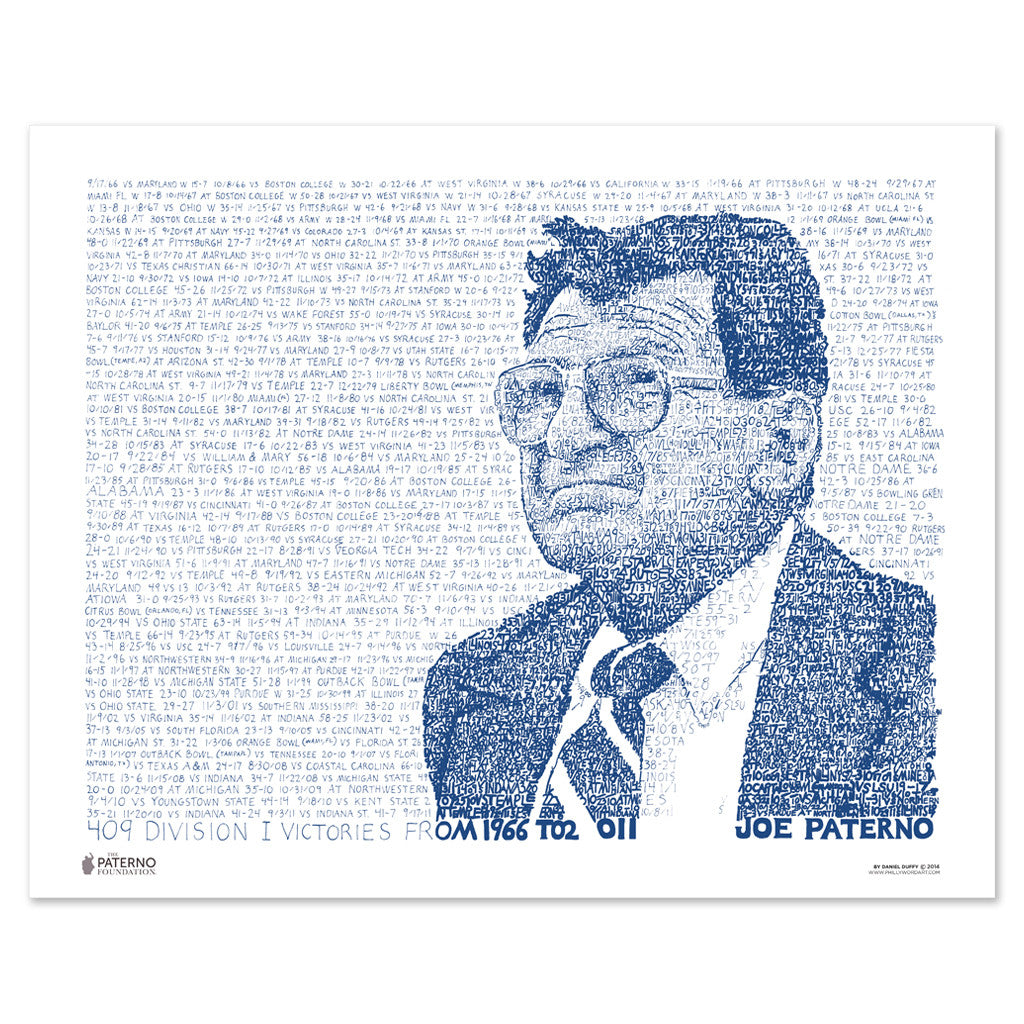 Penn State University Football Joe Paterno Poster