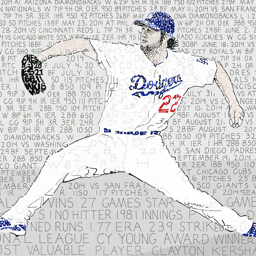 Los Angeles Dodgers Clayton Kershaw Wall Art