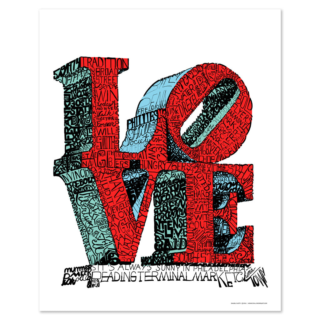 Philadelphia Love Statue Print Philadelphia Love Wall Decor