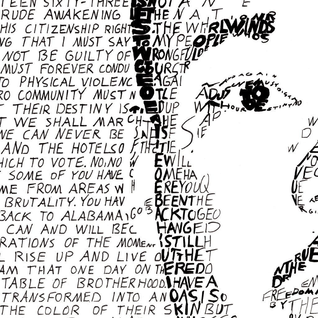 Martin Luther King Jr I Have A Dream Word Art Print Art Of Words
