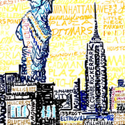 New York City Skyline Word Art Poster