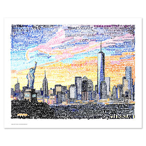 New York City Skyline Wall Decor