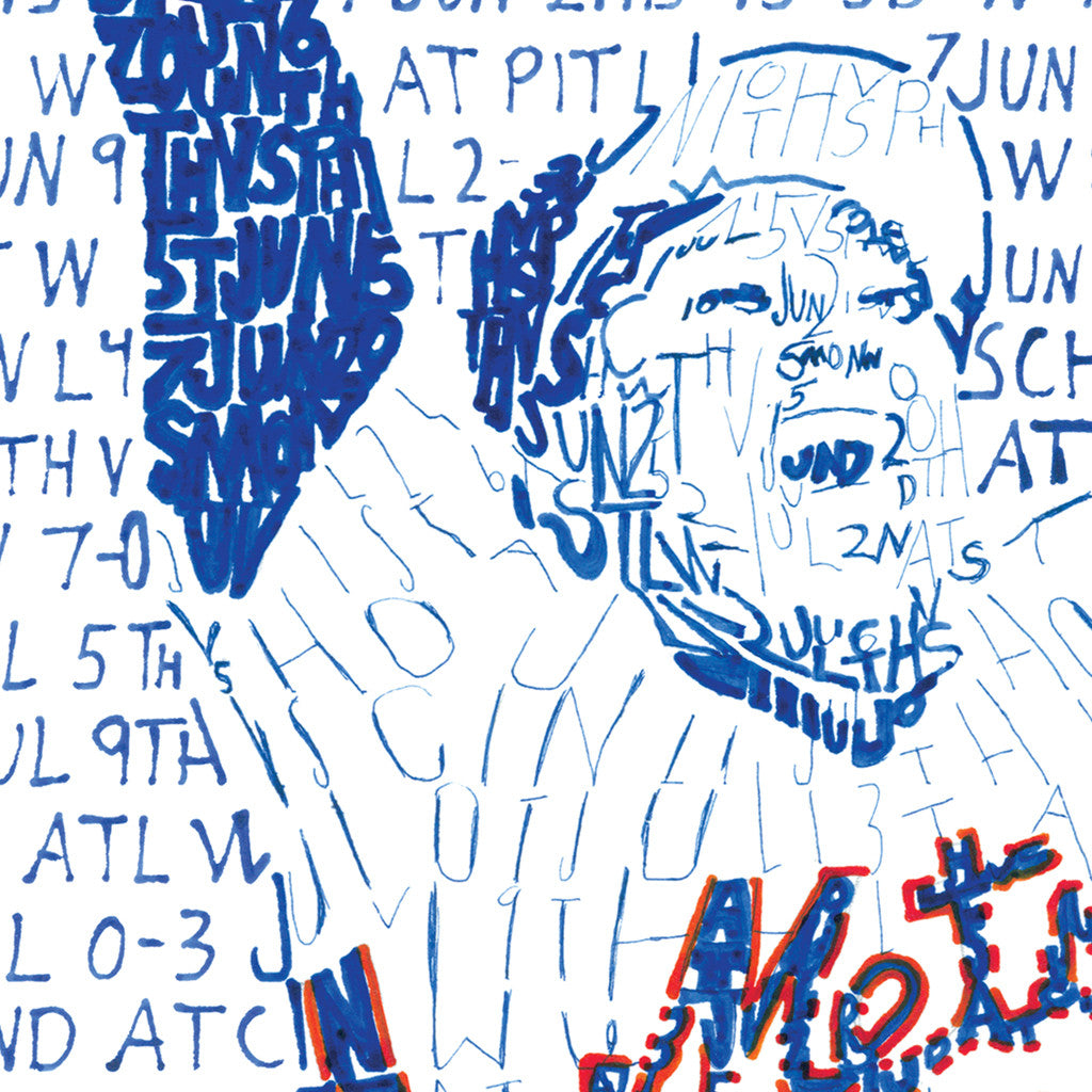 1986 New York Mets World Series Word Art