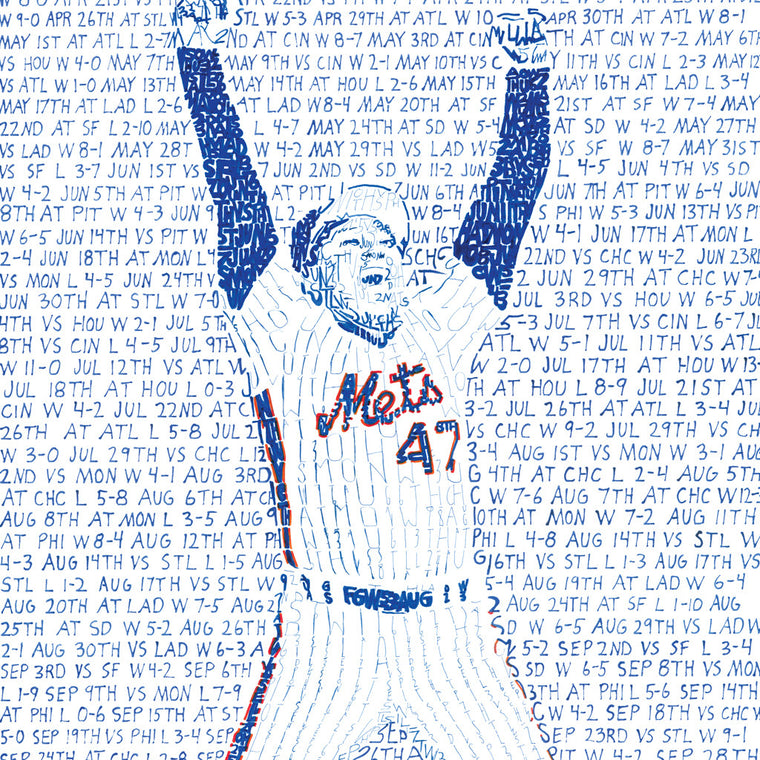 1986 New York Mets World Series Wall Art
