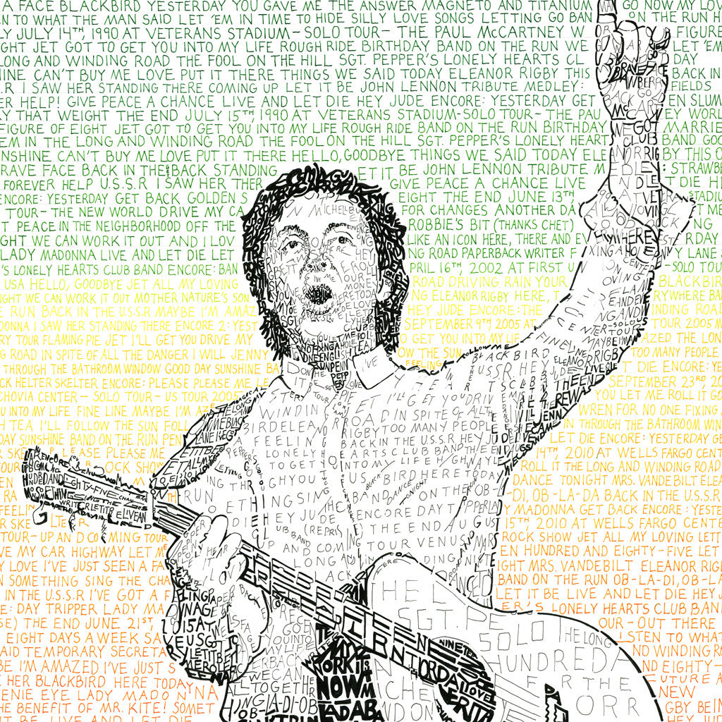 Paul McCartney Word Art Poster