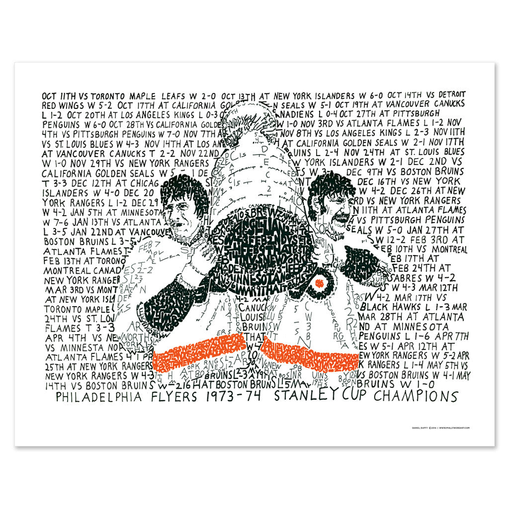 Philadelphia Flyers Stanley Cup Champs Poster