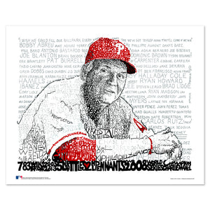 Philadelphia Phillies Charlie Manuel Wall Art Print