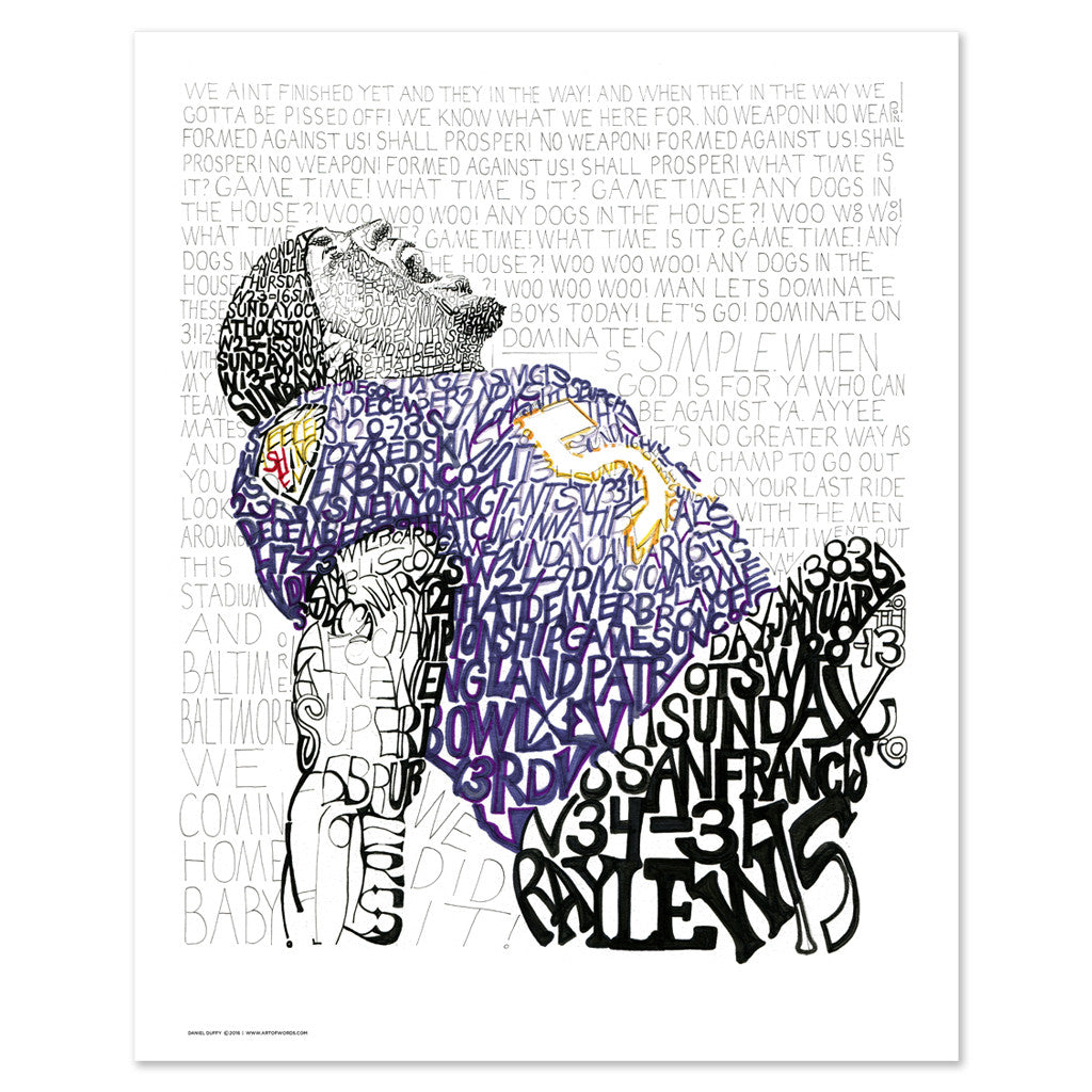 Baltimore Ravens Ray Lewis Home Decor