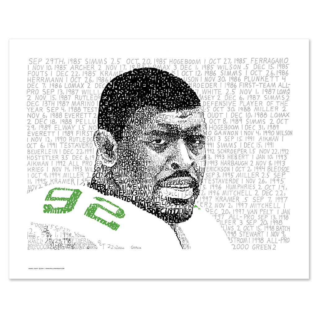 Philadelphia Eagles Reggie White Wall Decor Artwork