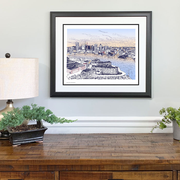 Baltimore Inner Harbor Gift Framed