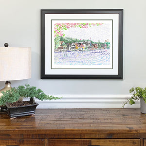 Boathouse Row Gift Framed