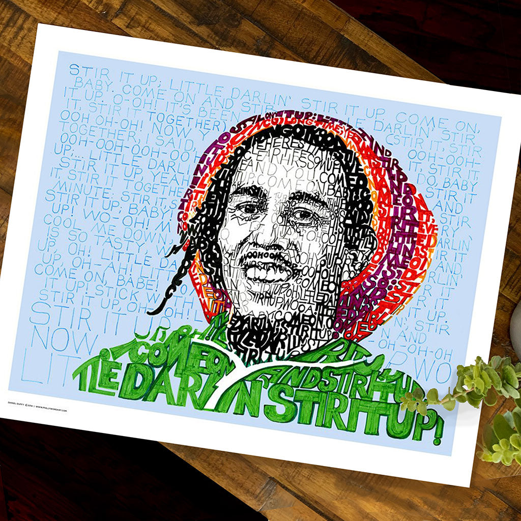 Bob Marley Word Art