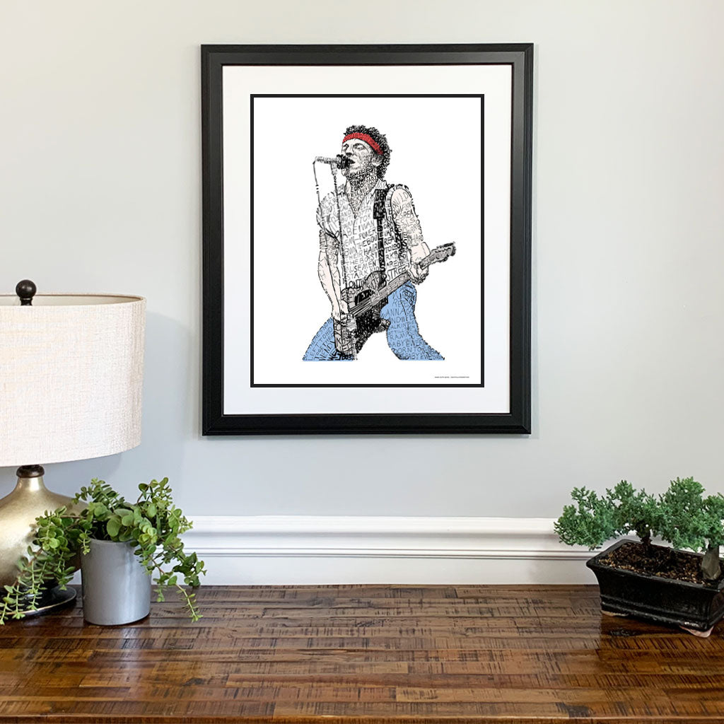 Bruce Springsteen Gift Framed