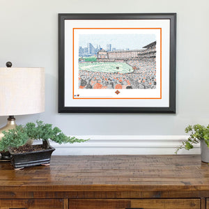 Baltimore Orioles Camden Yards Gift Framed