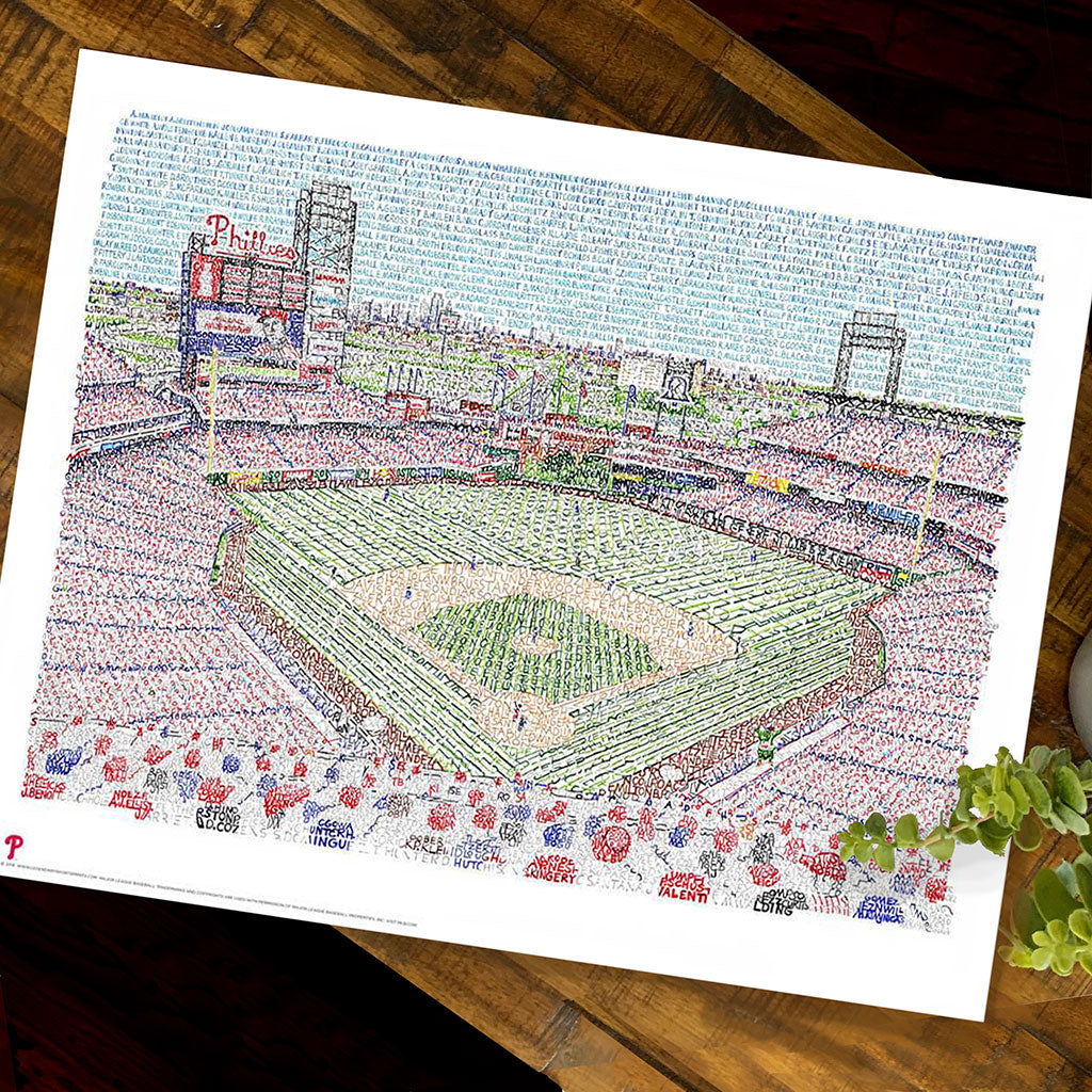 Philadelphia Phillies Citizens Bank Park Word Art by Daniel Duffy