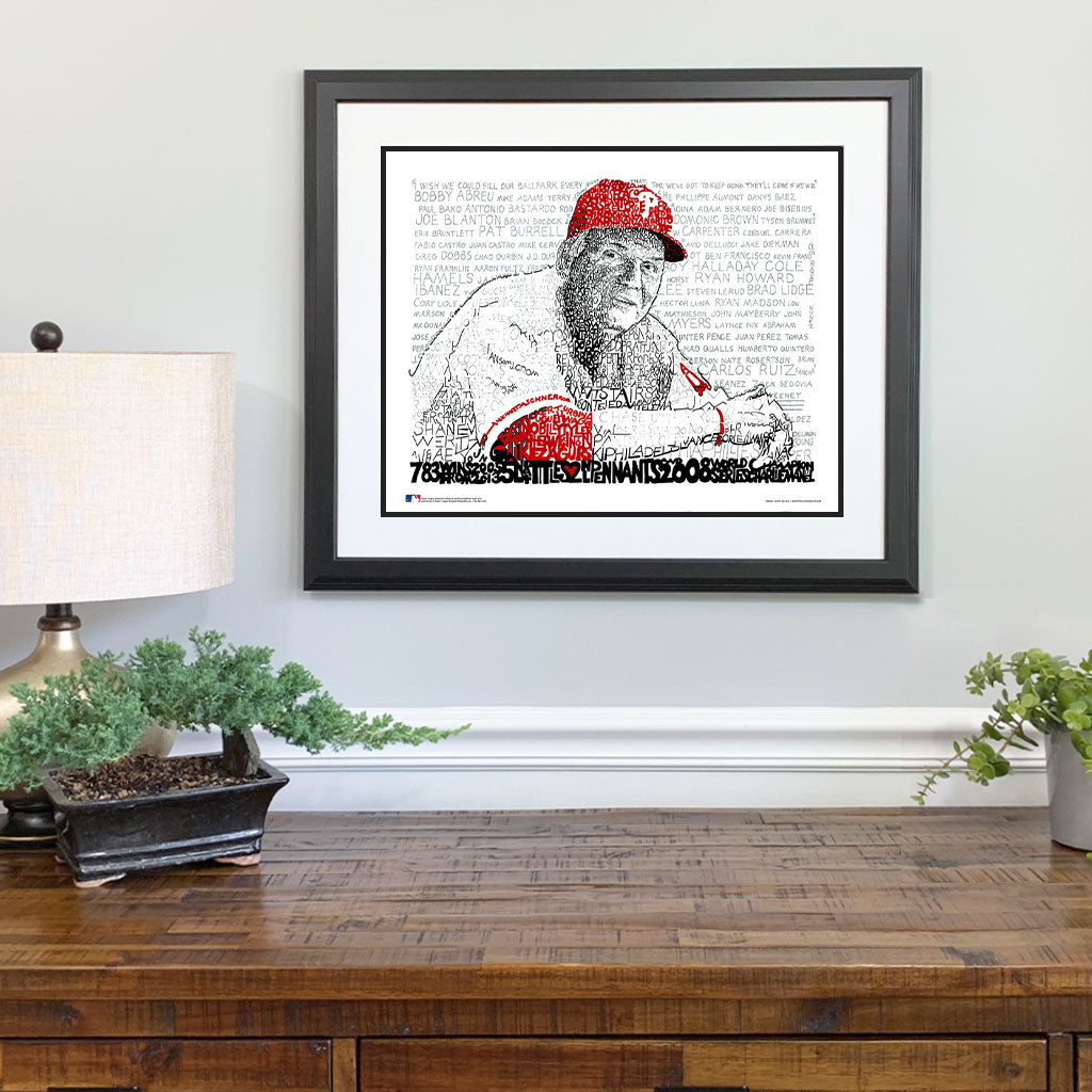 Philadelphia Phillies Charlie Manuel Gift Framed
