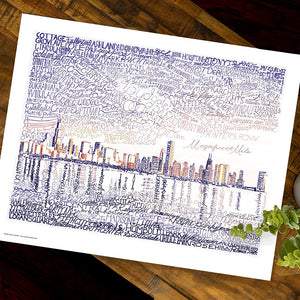Chicago Skyline Word Art by Dan Duffy
