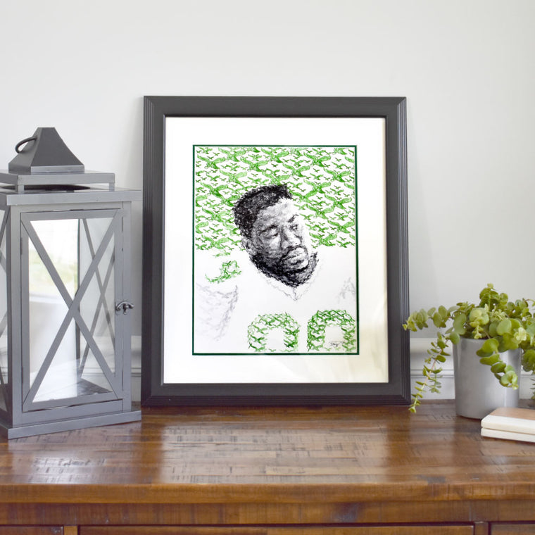 Jerome Brown Stamp Art - Original