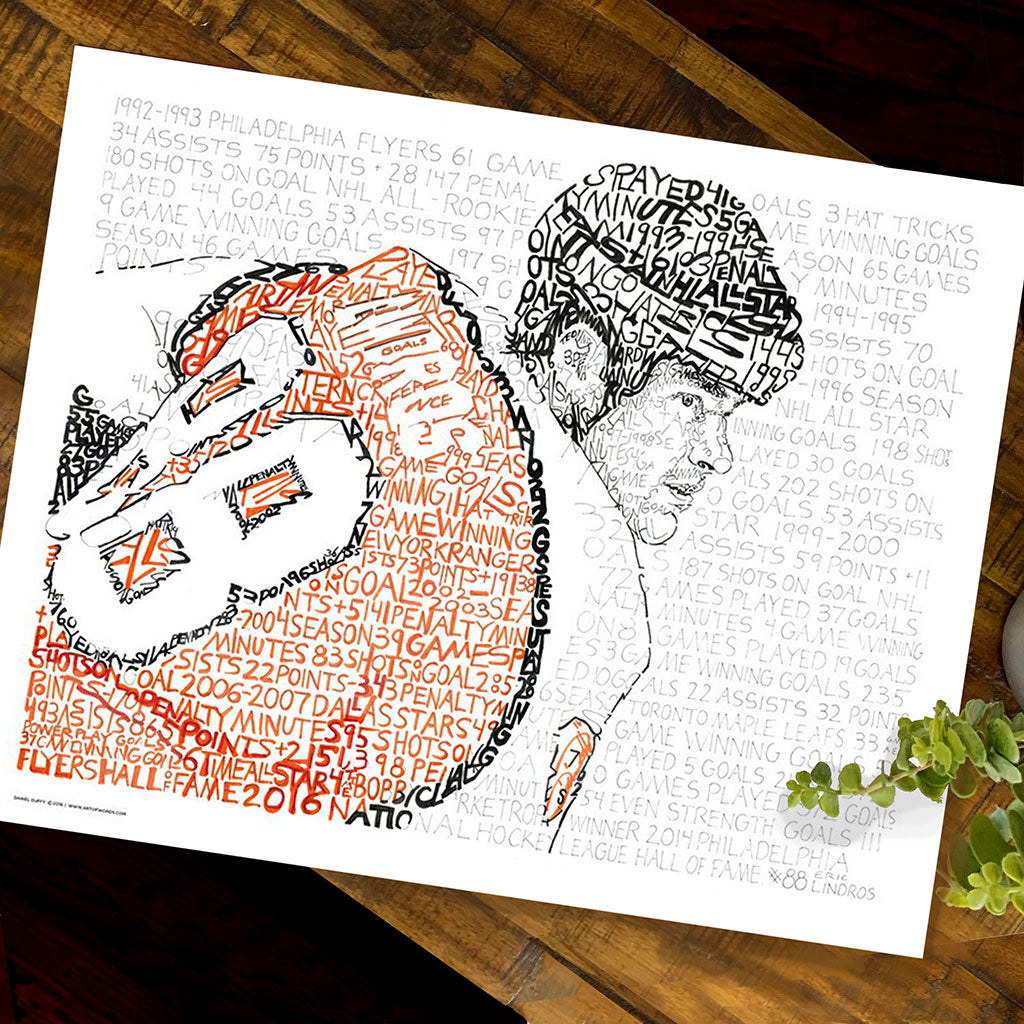 Philadelphia Flyers Eric Lindros Word Art