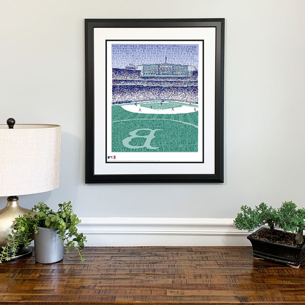 2013 Boston Red Sox Fenway Park Gift Framed