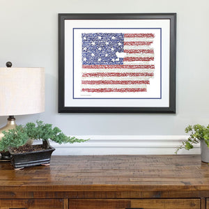 American Flag National Anthem Gift Framed