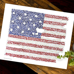 American Flag National Anthem Poster