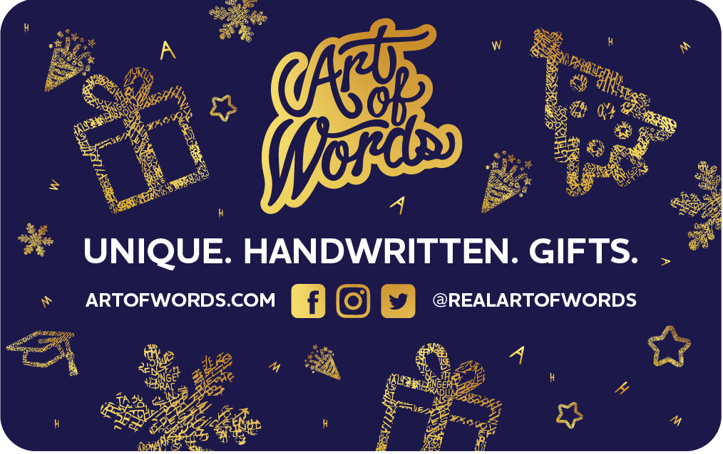 Art of Words Gift Card