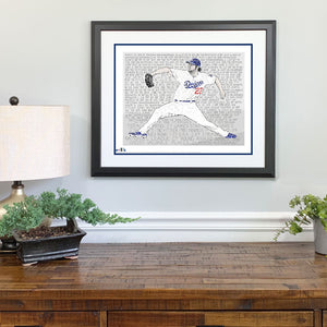 Los Angeles Dodgers Clayton Kershaw Gift Framed