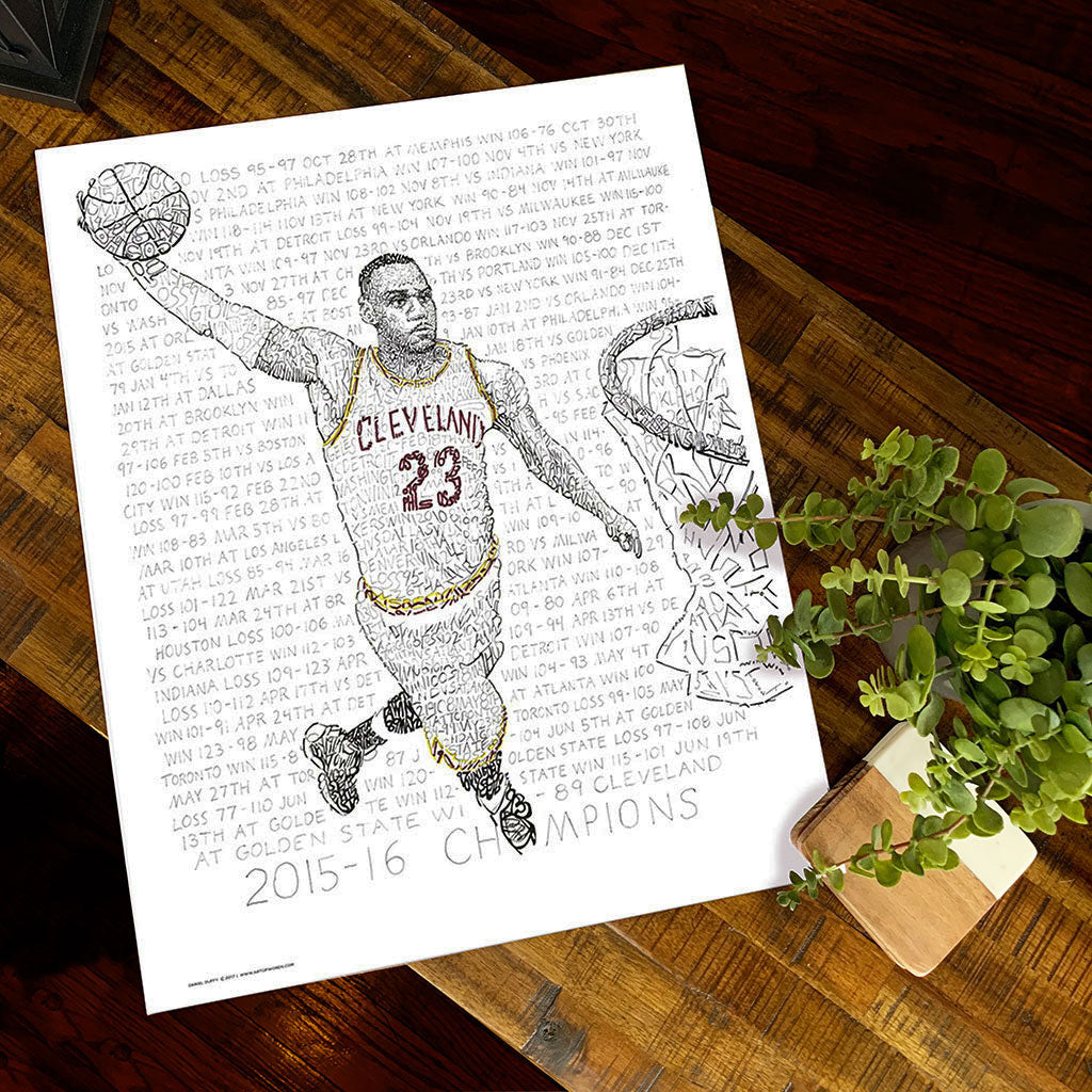 LeBron James Word Art by Dan Duffy
