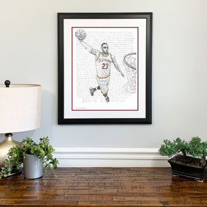 LeBron James Gift Framed
