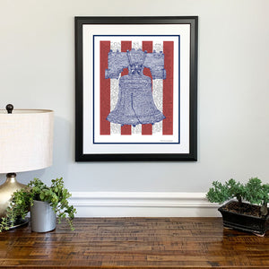 Liberty Bell Declaration of Independence Gift Framed